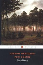 Cover of: Selected Poetry of Johann Wolfgang von Goethe | Johann Wolfgang von Goethe