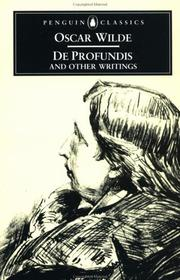 Cover of: De Profundis and Other Writings by Oscar Wilde