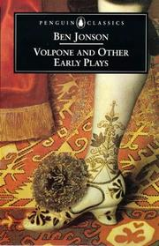 Cover of: Volpone and Other Early Plays | Ben Jonson