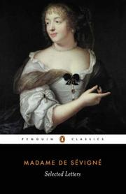 Cover of: Selected Letters of Madame de Sevigne | Madame de Sevigne