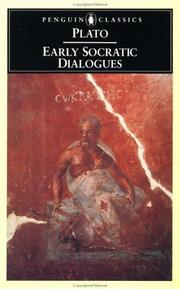 Cover of: Early Socratic dialogues by Plato