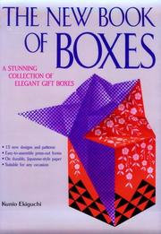 Cover of: The new book of boxes | Kunio Ekiguchi