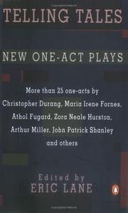 Cover of: Telling Tales and Other New One-Act Plays | Eric Lane