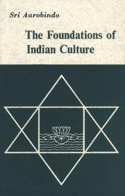Cover of: Foundations of Indian Culture | Saashram