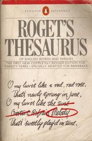 Cover of: Roget's Thesaurus of English Words and Phrases | Susan M. Lloyd