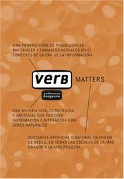 Cover of: Verb matters | Jaime Salazar