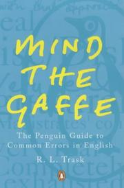 Cover of: Mind the Gaffe | R.L. Trask