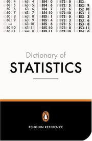 Cover of: The Penguin Dictionary of Statistics | David Nelson
