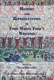 Cover of: History and Representation in Ford Madox Ford's Writings (International Ford Madox Ford Studies, 3) by Joseph Wiesenfarth