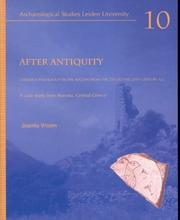 Cover of: After antiquity by Joanita Vroom