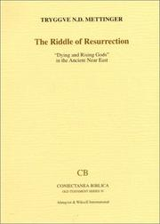 Cover of: Riddle of Resurrection by Tryggve N. D. Mettinger