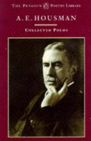Cover of: A.E. Housman | A. E. Housman