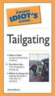Cover of: Pocket Idiot's Guide To Tailgating | David Blend