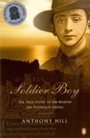 Cover of: Soldier Boy | Anthony Hill