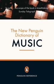 Cover of: The New Penguin Dictionary of Music | Paul Griffiths