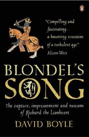 Cover of: Blondel's Song | David Boyle