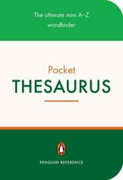 Cover of: Penguin Pocket Thesaurus | Stephen Curtis