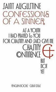 Cover of: Confessions of A Sinner | Augustine of Hippo