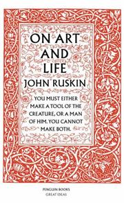 Cover of: On Art and Life | John Ruskin