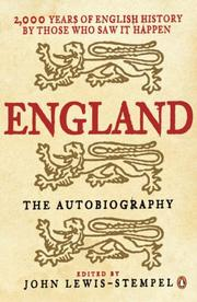 Cover of: England, the Autobiography | John Lewis-Stempel