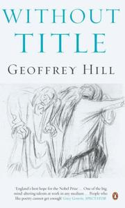 Cover of: Without Title | Geoffrey Hill