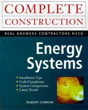 Cover of: Energy Systems | Robert Carrow
