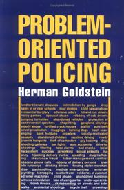Cover of: Problem-oriented policing | Herman Goldstein