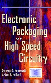 Cover of: Electronic packaging of high speed circuitry by Stephen G. Konsowski