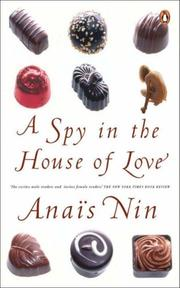 Cover of: Spy in the House of Love | Anaïs Nin