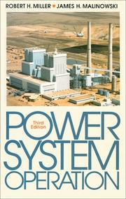 Cover of: Power system operation | Miller, Robert H.