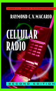 Cover of: Cellular Radio by R. C. V. MacArio