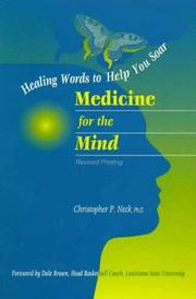 Cover of: Medicine for The Mind | Christopher P. Neck