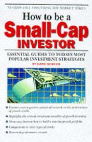 Cover of: How to be a Small-Cap Investor by David Newton