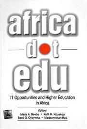 Cover of: AfricaDotEdu | Maria A. Beebe