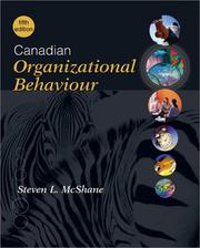 Cover of: Canadian Organizational Behaviour by McShane