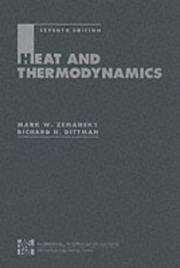 Cover of: Heat and Thermodynamics by Mark Zemansky