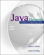 Cover of: Java Elements | Duane Bailey