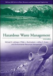 Cover of: Hazardous Waste Management | Lagrega