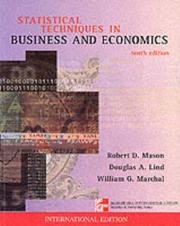 Cover of: Statististical Techniques in Business and Economics | Mason