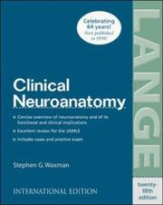 Cover of: Clinical Neuroanatomy | Stephen G. Waxman