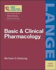 Cover of: Basic and Clinical Pharmacology | B.G. Katzung