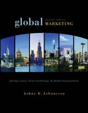 Cover of: Global marketing | Johny Johansson