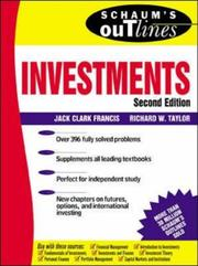 Cover of: Schaum's Outline of Investments | Jack Clark Francis