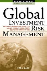 Cover of: Global Investment Risk Management | Ezra Zask