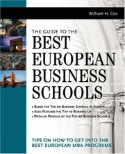 Cover of: The Guide to Best European Business Schools | William Cox