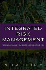 Cover of: Integrated Risk Management | Neil Doherty