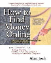 Cover of: How to Find Money Online | Alan Joch