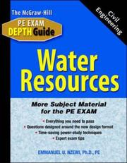 Cover of: Water Resources | Emmanuel U. Nzewi