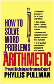 Cover of: How Solve Word Problems in  Arithmetic by Phyllis Pullman