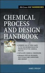 Cover of: Chemical Process and Design Handbook | James Speight